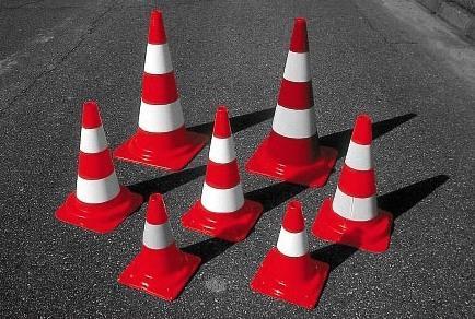 Конусы дорожные сигнальные